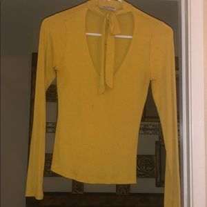 Tie neck fashion nova blouse